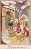 BONNE ANNEE-BUON ANNO-HAPPY NEW YEAR-AUGURI-BAMBINI-DONI- ORIGINALE D´EPOCA 100% - Nouvel An