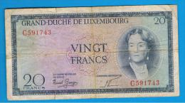LUXEMBURGO -  20 Francs ND  P-49 - Luxemburgo
