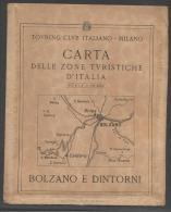 7087bis-T.C.I-BOLZANO E DINTORNI-SCALA 1:50.000 - Carte Geographique