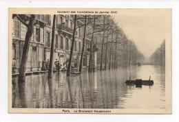 CPA 75 PARIS Inondations De Janvier 1910 Le Boulevard Haussmann Au Dos Citation De Jean AICARD - Inondations De 1910