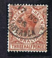 1926  George V, Three Half Pence  SG 91  Used In CASABLANCA, Morocco - Gibraltar