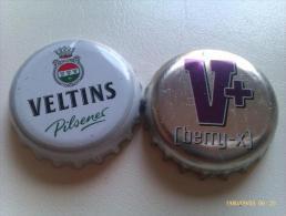 Lote 2 Chapas Kronkorken Caps Tappi Cerveza Veltins. Alemania. - Birra