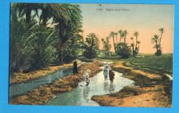CP, Algérie, Séguia Dans L'Oasis, Ecrite, Ed  F. Taltavull - Algérie