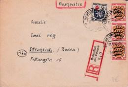 ZOF - 1946  -   ENVELOPPE RECOMMANDEE De MESSSTETTEN A ETTENHEIM - Franse Zone