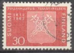 1962 Board Of Customs Mi 548 / Facit 552 / Sc 393 / YT 524 Used / Oblitéré / Gestempelt [lie] - Oblitérés