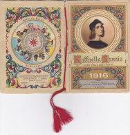 """CALENDARIETTO """"RAFFAELLO SANZIO""""  VITA ED OPERE  AL PROFUMO""""ACACIA"""" SIRIO MILANO   1916 -2-  0882 -17478-477 - Petit Format : 1901-20"""