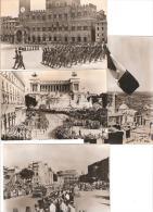 De Tunis A Sienne 15 06 44 Les Troupes Française Defilent  Rome Et Sienne Lot De 4 Cartes - Guerre 1939-45