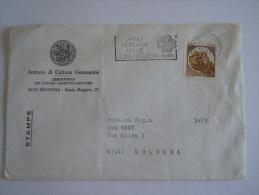 Italie Italia Brief Lettre Letter 1983 Série Courante Châteaux Flamme Anno Mondiale Delle Communicazioni - 1981-90: Storia Postale