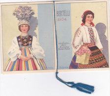 """CALENDARIETTO """"COSTUMI DELL'EUROPA ORIENTALE """"PROFUMATO ALLA """"ROSA """" BERTELI MILANO FOLKLORE   1934 -2-  0882 -17483-482 - Calendriers"""