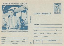 PLANES, CONSTANTIN BAZU CANTACUZINO, PILOT, PC STATIONERY, ENTIERE POSTAUX, 1992, ROMANIA - Zeppelins