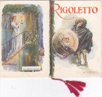 """CALENDARIETTO  """"RIGOLETTO"""" DI GIUSEPPE VERDI OPERA LIRICA  FIRMA SANTINO  1926 -2-  0882 -17491-490 - Tamaño Pequeño : 1921-40"""