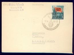 DV7-112 EAST GERMANY, DDR 1955 CARD WITH MI 344 70th ANNI DEATH OF KARL MARX. - Karl Marx