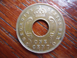 BRITISH EAST AFRICA USED ONE CENT COIN BRONZE Of 1952 KN. - East Africa & Uganda Protectorates