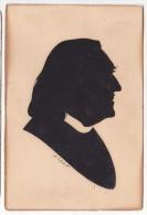 Franz Liszt Scisor Silouethe  Tarjeta Postal  Vintage Original Postcard Cpa Ak (W3_1798) - Silueta