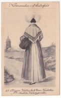 Normandes D'autrefois Nº65 Dress Costume Tarjeta Postal  Vintage Original Postcard Cpa Ak (W3_1801) - Moda