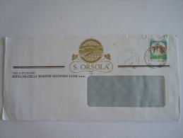 Italie Italia Brief Lettre Letter 1991 S. Orsola Vini E Spumanti Cossano Belbo Vignoble Série Courante Châteaux - 6. 1946-.. Repubblica