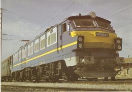 POSTAL DE ESPAÑA DE RENFE DE UNA LOCOMOTOTA 251 (TREN-TRAIN-ZUG) - Trenes