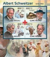 Gb12419a Guinea Bissau 2012 Albert Schweitzer And Red Cross Nobel Prize S/s Deer Michel: 6042-6045 - Albert Schweitzer