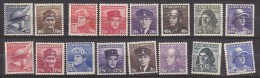 L2955 - TCHECOSLOVAQUIE Yv N°387/402 * - Unused Stamps