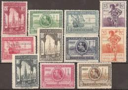 ESPAÑA/SAHARA 1929 - Edifil #25/35 * - Precio Cat. €110 - Sahara Español