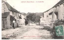 Crenay:la Grande Rue. - France