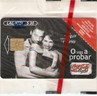 TARJETA DE MEXICO DE COCA-COLA LIGHT PAREJA (COKE) NUEVA-MINT - Publicidad
