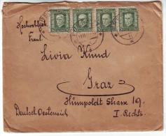 Czechoslovakia 1927? Letter To Graz From Presov 10x Mi.242 T.G.Masaryk - Briefe U. Dokumente