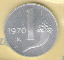 ITALIA 1 LIRA 1970 FDC - 1946-… : Repubblica