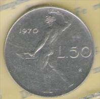 ITALIA 50 LIRE 1970 FDC - 1946-… : Repubblica