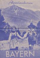 Alpenlandreisen Bayern, Prospekt Des Reisebüros Alpenland, Berlin, 1951 - Werbung