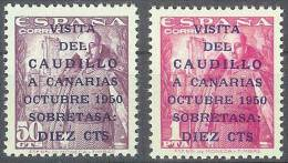 ESPAÑA 1951 - Edifil #1088/89 - MLH * - 1951-60 Nuevos & Fijasellos