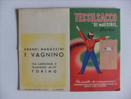 """Calendarietto TESSILSACCO """"De Magistris"""" 1952 - Grandi Magazzini F.VAGNINO. TORINO - Calendriers"""