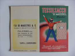 "Calendarietto TESSILSACCO ""De Magistris"" 1952 - Carta E Cacelleria. PALERMO - Calendriers"