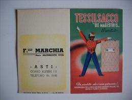 """Calendarietto TESSILSACCO """"De Magistris"""" 1952 - F.lli MARCHIA. ASTI - Calendriers"""