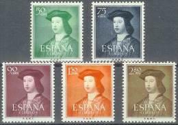 ESPAÑA 1952 - Edifil #1106/10 - MLH * - 1951-60 Nuevos & Fijasellos