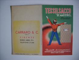 "Calendarietto TESSILSACCO ""De Magistris"" 1952 - Carraro &C. FIRENZE - Calendriers"