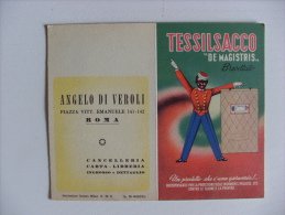"Calendarietto TESSILSACCO ""De Magistris"" 1952. Angelo Di Veroli - Cancelleria, Carta, Libreria ROMA - Calendriers"