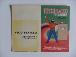 """Calendarietto TESSILSACCO """"De Magistris"""" 1952. Vico Fratelli TORINO - Calendriers"""