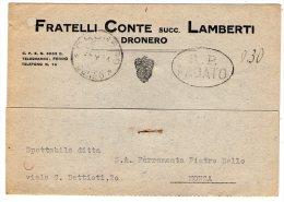 """""""R.P. PAGATO"""" + """"0,30"""" Manoscritto Su Cartolina Non Affrancata Da Dronero (Cuneo) A Monza . RSI. 16/03/1944 - 4. 1944-45 Repubblica Sociale"""