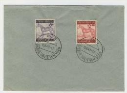 Deutsches Reich Michel No. 857 - 858 gestempelt used auf Umschlag