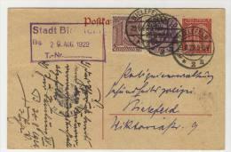 Deutsches Reich Ganzsache Dienst P 1 + ZF No. 25 , 29 gebraucht