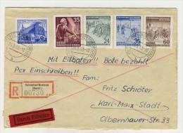 DDR Michel No. 350 , 355 - 357 , 361 auf Brief Eilbote