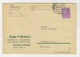 DDR Michel No. 411 auf Brief EF