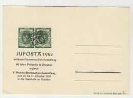 Postkarte mit Zudruck Juposta 1958