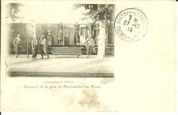 CPA  MONTCHANIN LES MINES, Souvenir De La Gare Campagne 1914  8049 - Altri Comuni