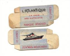 CARTON DE LAME DES MATELOTS L ATLANTIQUE - Boats