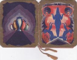 """CALENDARIETTO  """"BIZARRE """" VISET MILANO FIRMA ROMOLI DANZA FANTASIA     1931 -2-  0882 -17522-521 - Calendriers"""