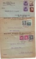 Czechoslovakia 1936-48, 3 Pieces Letter From Lucenec To New York. - Tschechoslowakei/CSSR