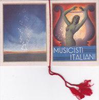 """CALENDARIETTO """"MUSICISTI ITALIANI""""DONIZETTI-ROSSINI-BELLINI-VERDI-PUCCINI-MASCAGNI OPERA  LIRICA  1940-2-0882 -17528-527 - Small : 1921-40"""