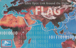 Gibraltar, GIB-63, Fibre Optic Link Around The Globe Flag, Mint, 2 Scans. - Gibraltar